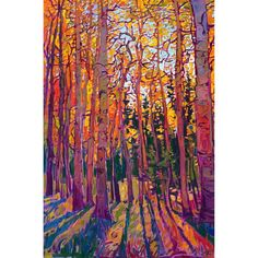Fresh off the Easel! Crystal Aspen 2021 OIL ON LINEN by erin hanson 36 x 24 in $13,000 Crystalline light filters through the branches of… Erin Hanson, Modern Impressionism, Easel, Instagram Accounts, Branches, Oil, Fresh, Filters, Crystals