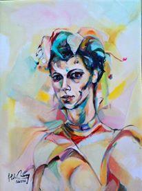 volto di arlecchina -Feb2016 (pittura ad olio)