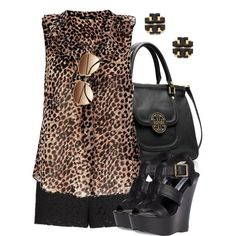 """""""Lacey Leopard"""" by qtpiekelso on Polyvore"""