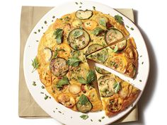 Squash Frittata | Squash Frittata makes a stunning presentation when plated. Fresh summer flavor abounds in every bite.