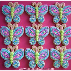 🦋 Butterfly cookies by Erica Wilson