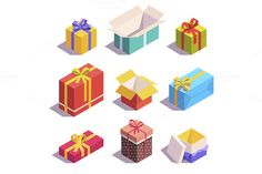 Present and gift boxes @creativework247