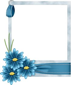 FRAME - Square with Blue Daisies.