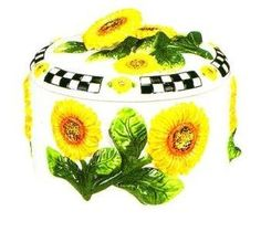 SUNFLOWER 3D Ceramic Tortilla Holder Warmer NEW by KMC/KK-Sunflower. $27.79. Useful and stylish all in one!. Excellent attention to detail and such vibrant colors!. Great as a gift!. Create a personal and elegant touch to your kitchen!. Perfect for ANY sunflower collector!. Take a look at this BRAND NEW 3-D Sunflower Ceramic Tortilla Holder / Warmer. This is really a beautiful piece with a very nice design of sunflower bunches surrounding the holder on the outside and on the...