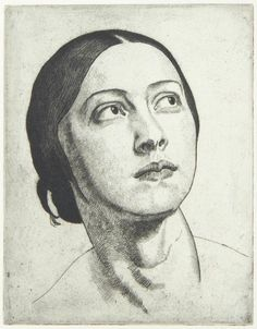 Madonna Dame Laura Knight - 1923 Private collection Etching Height: 17.5 cm (6.89 in.), Width: 13.5 cm (5.31 in.)