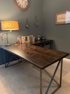 productivity increase concept office built open home desk your with the in an Increase productivity in your home office with an open concept desk built in the Increase You can find Productivity and more on our website Industrial Office Desk, Diy Office Desk, Home Office Setup, Home Office Space, Office Walls, Home Office Desks, Home Office Furniture, Office Decor, Office Ideas