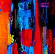 'DigitalART Nr.5 Farbrausch 1' von Claudia Neubauer bei artflakes.com als Poster oder Kunstdruck $16.63