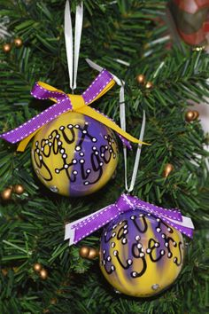 LSU Ornament by TheSouthernTurtle on Etsy, $9.50