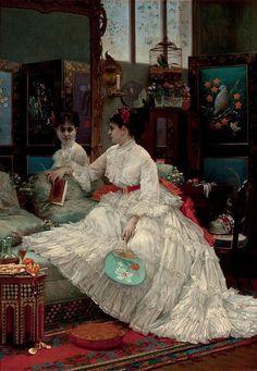 Lady L'Absinthe - 1875 Jules Emile Saintin Reflections