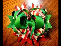 Christmas hairbow tutorial
