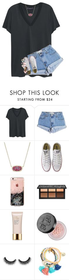 """SO STRESSED"" by lindsaygreys ❤ liked on Polyvore featuring Violeta by Mango, Levi's, Kendra Scott, Converse, Kat Von D and Estée Lauder"