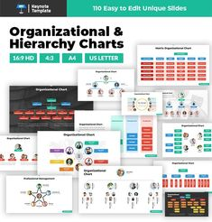 Awesome collection of Organizational Charts and Hierarchy Charts slides, all of them are easy to edit and customize. Save your time and buy this ready to use template that contains more than 100 modern and colorful slides with a great collection of org charts. Organizational Chart, Organizational Structure, Marketing Presentation, Business Powerpoint Presentation, Startup Business Plan, Start Up Business, Flow Chart Template, Keynote Template, Marketing Proposal