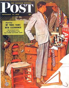 Imperfect Fit. Saturday Evening Post, December 5, 1945 (Norman Rockwell)
