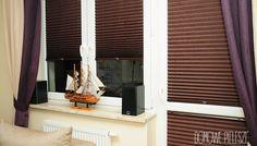 Wystrój wnętrz - rolety plisowane || Domowe Pielesze