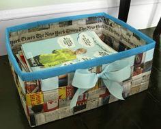 Lovely Trash: Creative ways to reuse trash | Newspaper woven basket