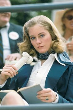 Super Seventies — Cybill Shepherd on the set of 'Taxi Driver', 1976.