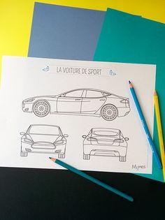 Coloriage voiture de sport - Momes.net