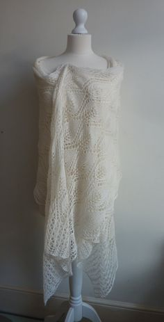 Winter white lace.