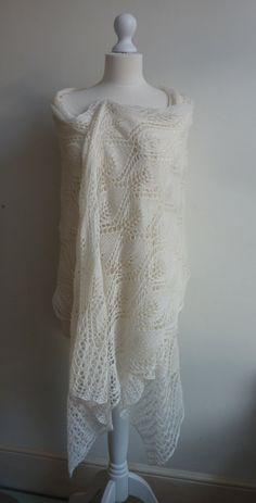Winter white lace.