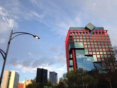 Reforma. CDMX.  México city. Df. Sunny day. Blue sky.