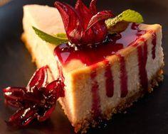 Wild Hibiscus Cheesecake |  http://chefmom.sheknows.com/articles/951437/cheesecake-recipes