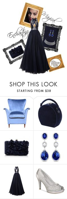 """Enchanted Evening"" by jeanne-emory ❤ liked on Polyvore featuring Bertoni, Jenny Packham and Adrianna Papell"