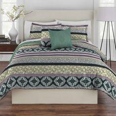 Rhapsody Ramona 4-5 Piece Comforter Set in Blue/Green - BedBathandBeyond.com