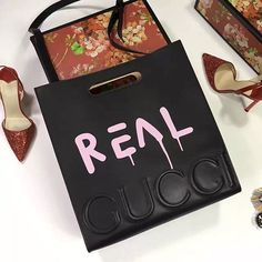 3f944e3eb92065 XL Leather GucciGhost Tote with Pink Real Print 414476 Gucci Tote Bag, Gucci  Wallet,