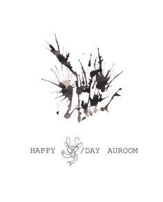 AU ROOM happy birthday postcard for the opening occasion on FB. Author: Aurelija Norkunaite 2014