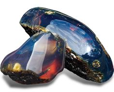 """Uncut Raw Blue Amber: """"Blue amber is the rarest of all ambers, and before the…"""