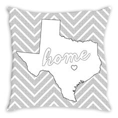 Home in the Heart of Texas Coloring Pillow By Tinge & Hue