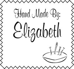Hand Made By Pin Cushion Zig Zag Rubber Stamp picture