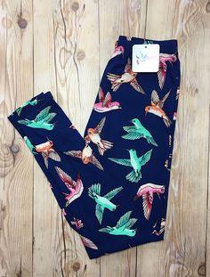 Hummingbirds $17 www.hilarystine.shopabbyanna.com #abbyandanna Basic Leggings, Hummingbirds, Hummingbird