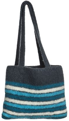 Video: Instructions knit bag and felt - Korb Sitricken Knitted Bags, Felted Bags, Reno, Handicraft, Knit Crochet, Crochet Bags, Diy And Crafts, Tote Bag, Creative