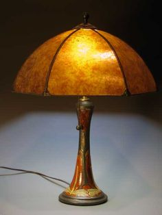 Dragonfly Lamp with mica shade - Stephanie Young -  Calm Water Designs - Arts & Crafts - Art Nouveau - Bungalow