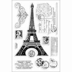 See Eiffel Tower Perfectly Clear Stamps Set by Stampendous on Addicted to Rubber Stamps!