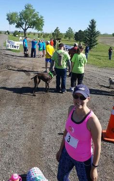 Kamee Wearden at a fun, MUDDY Adam's Warrior Dog Jog in Byers Memorial Day wknd. Proud to sponsor & run for a great cause #BeActive