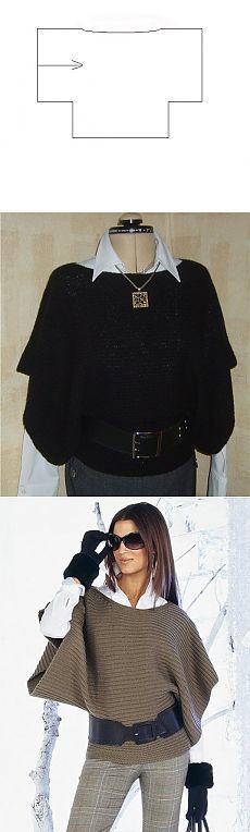 Пуловер (можно и на машине)