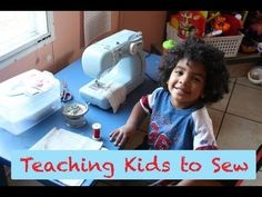 How to conduct a kids' sewing lesson...if this adorable little guy can do this, our campers can!