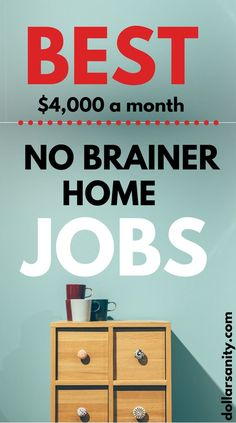 Best, no brainer home jobs. Make money online working from home. Earn Money Easily, Make Money Now, Make Money From Home, Make Money Online, Online Work From Home, Work From Home Jobs, Money Saving Tips, Money Hacks, Jobs For Women