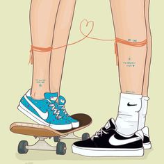 María Uve is a Spanish digital illustrator who uses comic-like images to explore the intimacy of love. - María Uve is a Spanish digital illustrator who uses comic-like images to explore the intimacy of love. Wallpaper Casais, Shoes Wallpaper, Couple Wallpaper, Cute Wallpaper Backgrounds, Aesthetic Iphone Wallpaper, Cartoon Wallpaper, Cute Wallpapers, Cute Couple Drawings, Cute Drawings