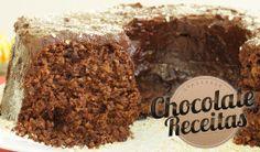Chocolate Receitas: Bolo de Chocolate com Banana