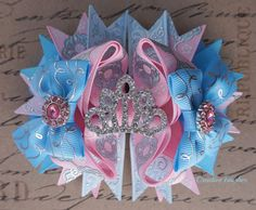 Princess Aurora Bow Your Pink and Blue Bow: ♥ Measures a little over 4.5 inches across ♥ arrives displayed on a professional product card ♥
