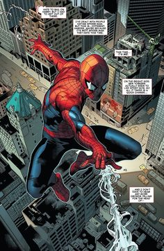 Spiderman by Stuart Immonen Spiderman Comic Books, Spiderman Art, Amazing Spiderman, Marvel Comics Art, Marvel Heroes, Comic Book Artists, Comic Books Art, Comic Art, Marvel Universe