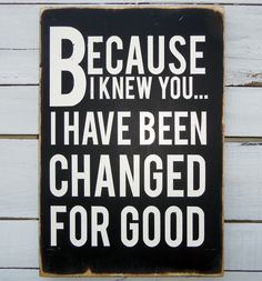 Typography Wood Sign - For Good Wall Decor