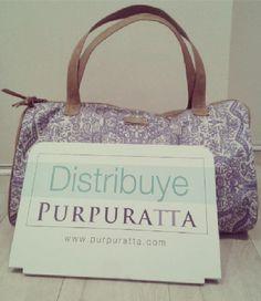 Distribuye Purpuratta #lingerie, #colombia  ¡nuevo handbag para nuestras distribuidoras! http://purpuratta.com/distribuye/