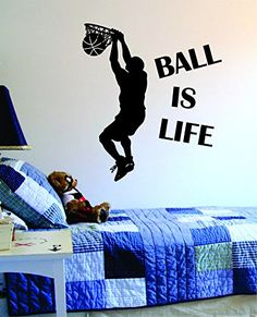 Basketball Player Silhouette Wall Decal Vinyl Wall Art 48