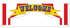 welcome banner for the kid outdoor carnival party