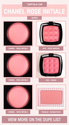 Chanel Rose Initiale Dupes & Comparisons on We Heart It Eye Makeup Remover, Skin Makeup, Makeup Brushes, All Things Beauty, Beauty Make Up, Top Beauty, Chanel Rose, Chanel Blush, Chanel Beauty