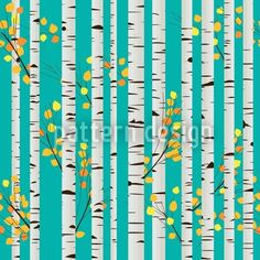 Scandinavian Birch Pattern, designed by Richard Laschon    High-quality Vector Pattern from patterndesigns.com